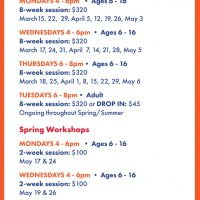 Macon Clay Spring Classes and Workshops 2020