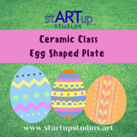 Ceramic Egg Shaped Plate Class
