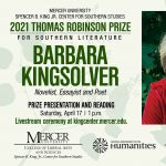 Thomas Robinson Prize for Southern Literature: Bar...