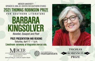 Thomas Robinson Prize for Southern Literature: Bar...
