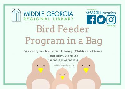 Bird Feeder Program in a Bag
