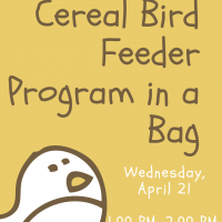 Cereal Bird Feeder Program in a Bag