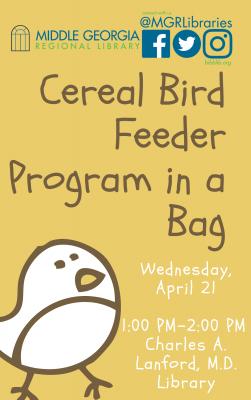 Cereal Bird Feeder Program in a Bag