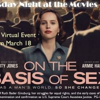 """Thursday Night at the Movies """"On the Basis of Sex"""""""