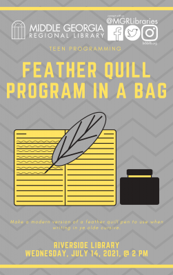 Teen Take-Home Craft: Feather Quill
