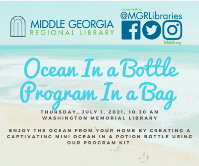 Ocean in a Bottle Teen Program in a Bag