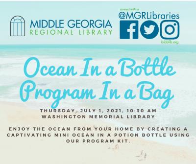 Ocean in a Bottle Teen Program in a Bag