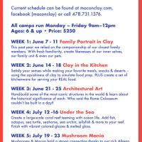 Macon Clay Summer Camps 2021