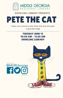 Middle Georgia Regional Library Welcomes Pete the ...