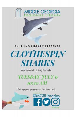 Clothespin Sharks