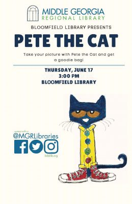 Bloomfield Library Welcomes Pete the Cat