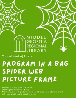 Program in a Bag: Spider Web Picture Frame