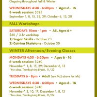 Macon Clay Fall & Winter Classes and Workshops 2021