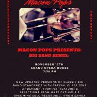 """Macon Pops Presents: """"Big Band Remix"""" Concert!"""