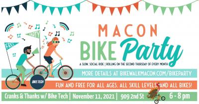 MACON BIKE PARTY - CRANKS & THANKS WITH BIKE T...