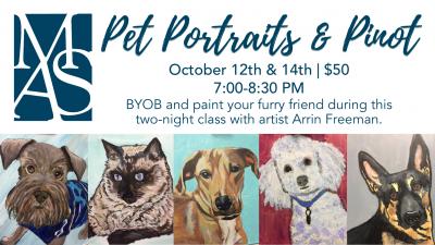 Pet Portraits & Pinot