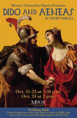 Mercer Opera Presents Dido and Aeneas