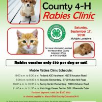 Macon-Bibb County 4-H Annual Rabies Clinic
