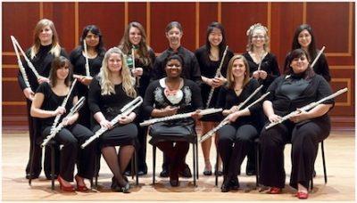 Mercer University Flute Choir in concert
