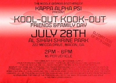 """Kappa Kool-Out Kook-Out"" Friends & Family Day"