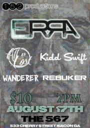 Erra with All is Lost, Kidd Swift, & Wanderer.