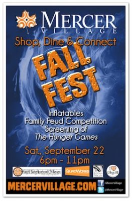 Fall Fest and Free Movie in Mercer Village