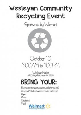 Wesleyan Community Recycling Event