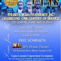 Phi Beta Sigma Fraternity, Inc. One Century of Service Celebration