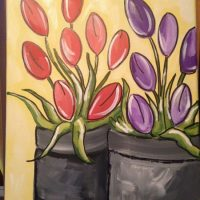 "Art on the Vine- Painting Party-""Tulips"""