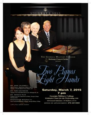 """GMC Steinway Concert Series Presents:  """"Two Pianos, Eight Hands"""""""