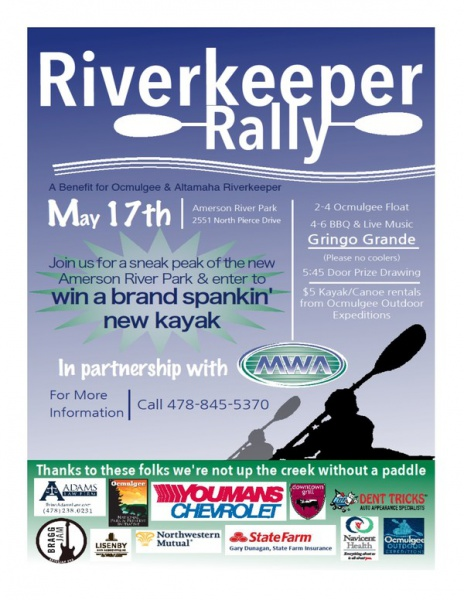 Riverkeeper Rally Presented By Amerson Water Works Park Macon365com