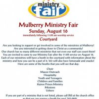 Mulberry Ministry Fair