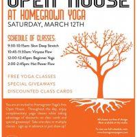 Homegrown Yoga Open House