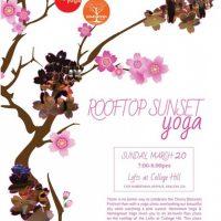 Rooftop Sunset Yoga Class
