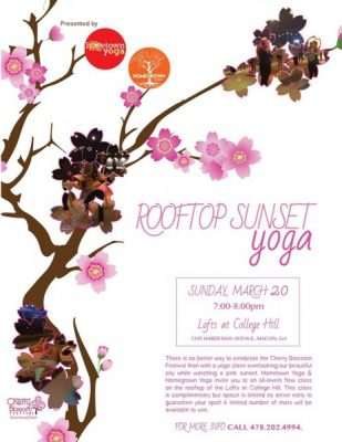 Rooftop Sunset Yoga Class
