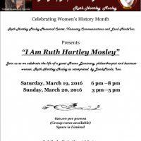 I Am Ruth Hartley Mosley