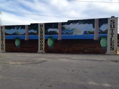 Suttles Hardwood mural